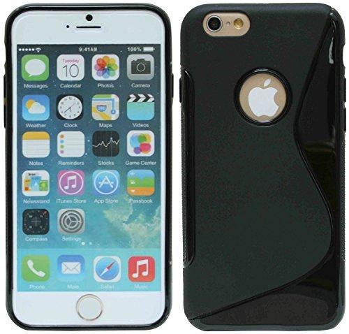 Iphone 6 PLUS // Silikon Hülle Tasche Case Zubehör in Pink @ Energmix Schwarz