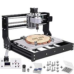 3018 Pro CNC Fräsmaschine Laser Engraving Machine,TOPQSC GRBL Steuerrouter DIY Kit 3 Achsen Kunststoff Acryl PVC Holzschnitzerei 300x180x45mm Mit Offline Controller