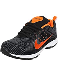Arexon Men's Synthetic Black Colored Sport Shoe( Men's Running Shoe, Breathable Sports Shoe, High Grip Sports... - B074Q22SMY