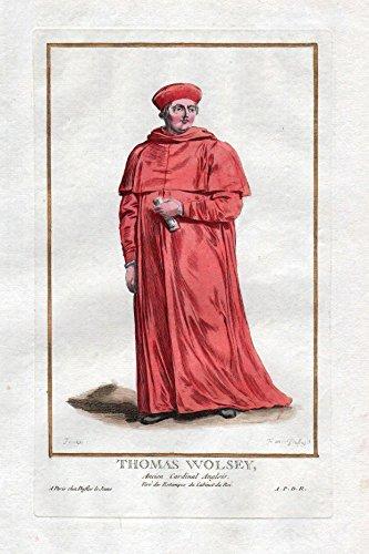Thomas Wolsey - Thomas Wolsey cardinal York Portrait costumes Kupferstich antique ()