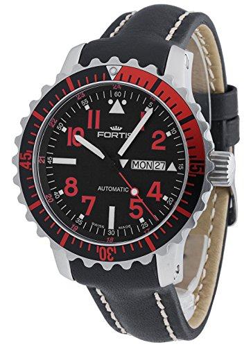 Fortis Hombre Reloj de pulsera b de 42Marino Master Rojo Fecha Día de la semana analógico automático 670.23.43L.01