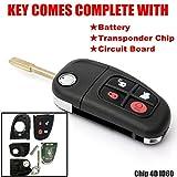 KaTur 1PC 4Boutons 433MHz télécommande clé de Voiture Shell Flip Pliant Lame...