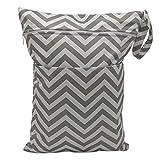 Mengonee Dual-Taschen bedruckte beweglichen Windel-Tuch-Speicher-Beutel Reise-Baby-Windel-Organizer-Reißverschluss-Tasche Wasserdicht