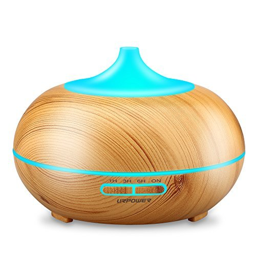 Aroma Diffuser 550ml Ultrasonic Aromatherapy Essential Oil Diffusers BS01 Portable Cool Mist Humidifier Multi-Color LED Light and Anti-Dry Protection Turn Off Automatically for Home Office
