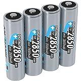 ANSMANN wiederaufladbare Akku Batterie Mignon AA, 1,2V/Typ 2850mAh, NiMH/Schnellladeakku mit hoher Kapazität ohne Memory-Effekt - ideal für Kameras, Blitzgeräte & Fernbedienungen, 1 x 4 Stück