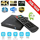 Mini kitty W95 Mini Android 7.1 TV Box 2GB RAM+16GB ROM con Apoya 4K(60HZ) Smart tv box WIFI/HD/H.265