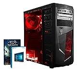 Vibox Standard 3S PC da Gaming, Processore AMD A8 Quad-Core, RAM 16GB, HDD da 1TB, Scheda Grafica AMD Radeon R7, Rosso