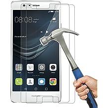 [Lot de 2]Huawei P9 Lite Protection écran Film Protection en Verre Trempé,sans bulles/ Anti-rayures , Protection écran en Verre Trempé Huawei P9 Lite