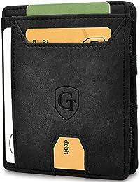 GenTo® Monaco Magic Wallet - Protección certificada de RFID y NFC - Billetera Inteligente, Delgada y sin Compartimento para Monedas - Regalo para Hombres con Caja de Regalo