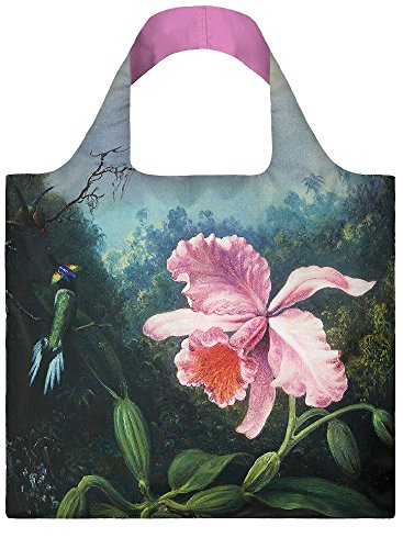 LOQI-Museum-Martin-Johnson-Heade-Still-Life-with-Orchid-and-Pair-of-Hummingbirds-Reusable-Shopping-Bag