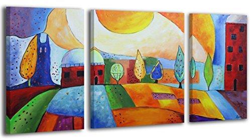 100% LABOR A MANO + certificado/ Ciudad esmeraldina/ El cuadro dibujado con pinturas acrílicas/ cuadros sobre el lienzo con bastidor de madera/ cuadro dibujado a mano/ montaje cómodo sobre la pared / Arte contemporáneo/ 120x70 cm