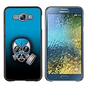 For Samsung Galaxy E7 E700 Case , Masque Rebel drôle de gaz - Design Pattern Hard Cas Retour Case Cover Housse Coque Étui De Protection Couverture