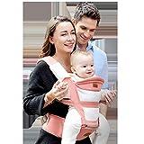 Tiners Babytragetuch Multifunktionssitz Ergonomischer Babyrucksack 0-36 Monate Vier Jahreszeiten Babyartefakt,Pink
