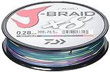 Daiwa J- Braid X8, Multicolor, 0.28mm, 26.5kg/58.0lbs, 300m, Rund Geflochtene Angelschnur, 12755-128
