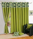 Swayam Curtain Concept Solid Eyelit Cott...