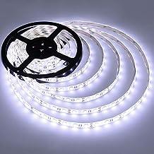 Kaltweiß 5M 3528 SMD LED Lichterkette Band Lichtschlauch Streifen Strip 12V