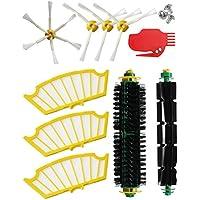 MIRTUX® Kit de recambios para Roomba serie 500 (505, 521, 510, 530, 531, 532, 534, 535, 545, 550, 552, 555, 560, 562, 564, 570, 570 Pet, 571, 575, 580, 581,585, 595, 599). Pack de 10 piezas compatibles con iRobot aspiradora Romba - cepillos y filtros. Repuestos y accesorios de máxima calidad.
