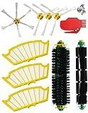 MIRTUX Kit de recambios para Roomba serie 500 505 521 510 530 531 532 534 535 545 550 555 560 562 564 570 570 571 575 580 581 585 595.10 piezas compatibles con iRobot Romba cepillos y filtros.