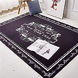 Chickwin Fußmatte Flanell Innen Dekoration, 3D Bedruckt 40X60CM Rutschfest Fußmatte Innen Küche Teppich Dekorative Bodenmatte (40x60, Schwarzes Muster)