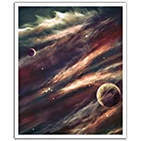 JP London POS2308 uStrip Peel and Stick Removable Wall Decal Sticker Mural Space Hubble Star Trek Solar, 19.75-Inch by 24-Inch