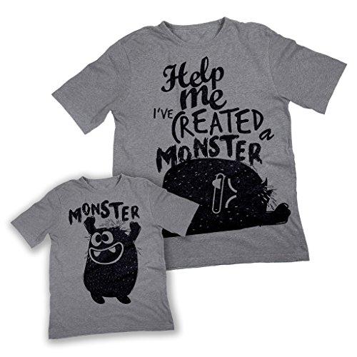 Mush t-shirt dad&son aiuto ho creato un mostro by dress your style
