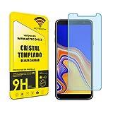 ACTECOM Protector Cristal Templado Compatible para Samsung Galaxy J4 Plus 9H 2.5D Pantalla