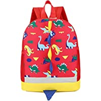 Bolso, Manadlian Niños Mochila de animales Patrón de dinosaurio Bolsa para la escuela (30cm*25cm, Rojo)