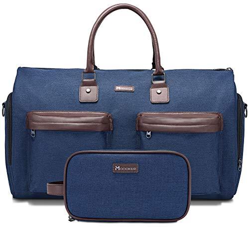 Kleidersack mit Schultergurt, Modoker Carry On Kleidung Duffel Bag für Männer und Frauen - 2 in 1 hängender Koffer Anzug Reisetaschen