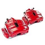 Bremssattel Set vorn Bremse 288 mm, mit Belägen und Bremsträgern, Farbe rot Lieferumfang 2 Stück für links und rechts