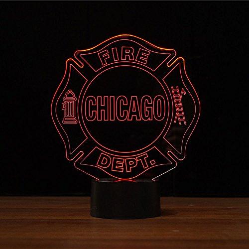 Chicago Fire Dept. - LED Design Leuchte - Chicago Design