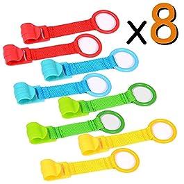 8 x Anelli per paracolpi, Anelli per lettino e culla di sostegno rimovibili per esercitarsi a stare in piedi VOOA
