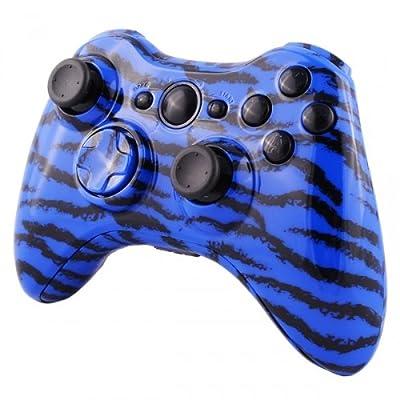 Xbox 360 Wireless Controller - Blue Tiger Camo ( Design)