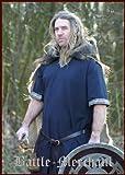 Camisas de manga corta medievales, azul - para juegos de rol, los vikingos y de la Edad media, todo el año, color , tamaño medium