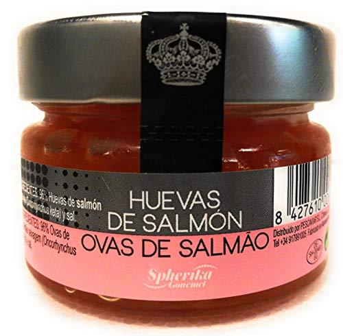 Uova / caviale di salmone 100g pastorizzato - spherika gourmet salmone keita e uova ikura le migliori