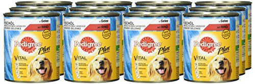 Pedigree Adult Plus Hundefutter Fischöl – Rind in Gelee, 12 Dosen (12 x 800 g) - 2