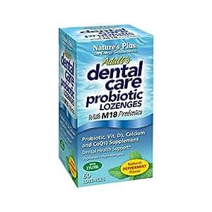 Nature's Plus - Adult's Dental Care Probiotiques Lozenges PepperMenthe 60 Lozenges