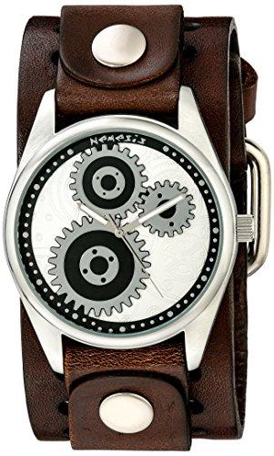 Nemesis 112BBS - Reloj de pulsera hombre, piel, color Marrón