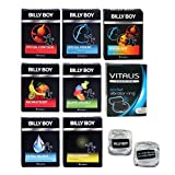 Billy Boy Relax Mix - 10 Billy Boy Sorten - 21 Kondome + Vitalis Premium Vibrationsring + 2 coole Billy Boy Eiswürfel gratis!