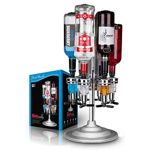 Final Touch Rotary 6bottiglie bar Caddy/ottica Liquore dispenser-chrome, finitura Spirits Butler Holder Bar Pub stile