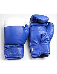transpirable/ el niño SandaPU guantes de boxeo/Botas-azul