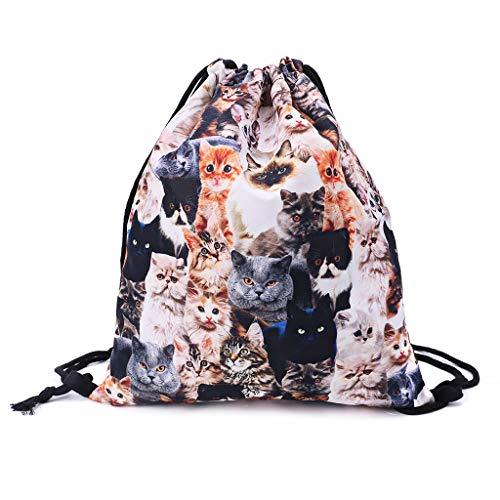 Drawstring Bags Cheetah Wild Cat Wildlife Print Drawstring Backpack Rucksack Shoulder Bags Gym Bag for Adult Child 16.9x14.1