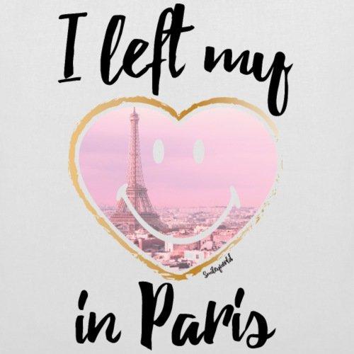 Spreadshirt Smiley World I Left My Heart In Paris Stoffbeutel Weiß