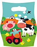 8 Partytüten * FARM FUN * für Kindergeburtstag oder Mottoparty // Kinder Geburtstag Party Mitgebsel Tüten Geschenktüten Motto Bauernhof Tiere Vögel