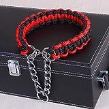 Comomingo Outdoor Shinning mit Glocke Hundehalsband HundehalsbandRot schwarz L