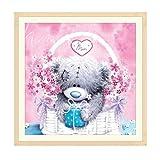Diamant Peinture Kits complet, Wuayi Rose Panda Mignon Chaussures à talons hauts 5d DIY Broderie Strass Collez-le Croix pour Home Décoration murale Art, D: 30*30cm, As Shown