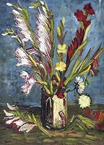 Vincent Van Gogh Papier Peint Photo/Poster Autocollant - Vase Avec Glaïeuls, 1886, 2 Parties (250 x 180 cm)