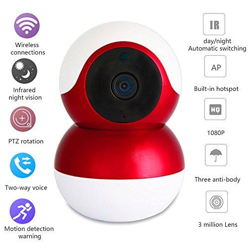 OMZBM 1080P HD Outdoor & Indoor Security Monitoring Fisheye Kamera PTZ Pan/Tilt 160 ° Weitwinkel mit IR-Nacht Bewegungserkennung Zwei-Wege-Audio Wasserdicht