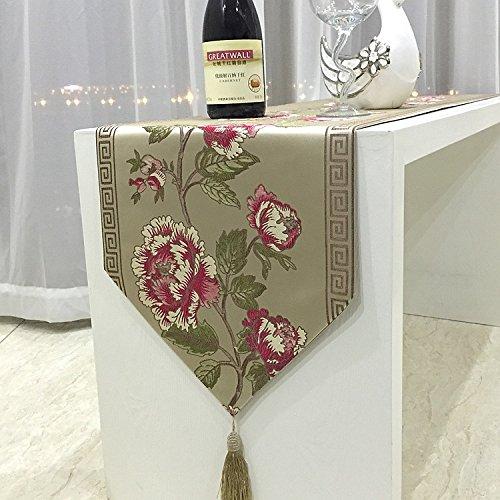 Tabella bandiera moda stile europeo di lusso high-end ricamo cinese classica panneggio , coffee