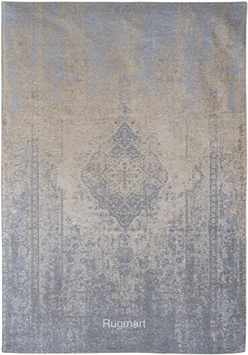 Sky-medaillons (Louis de poortere Teppiche Designer verblassen Welt Generation 8633beige Sky Blau & Beige Medaillon Antik Used und Faded Vintage Stil Bereich Teppiche, Beige & Blue, 230x330cm - (7'6x10'8))