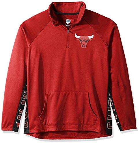 NBA Chicago Bulls Erwachsene Frauen Mvp Quarter Zip Pullover, Medium, Rot